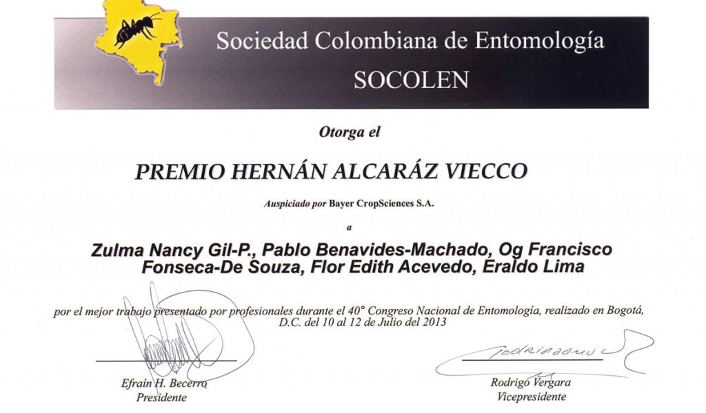Premio Sociedade Colombiana de Entomologia