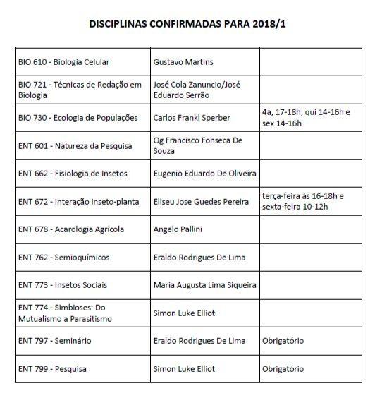Disciplinas 2018_1